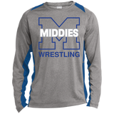 Heather Colorblock Long Sleeve T-Shirt - Middletown Wrestling