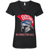 Women's V-Neck T-Shirt - Goshen Basketball
