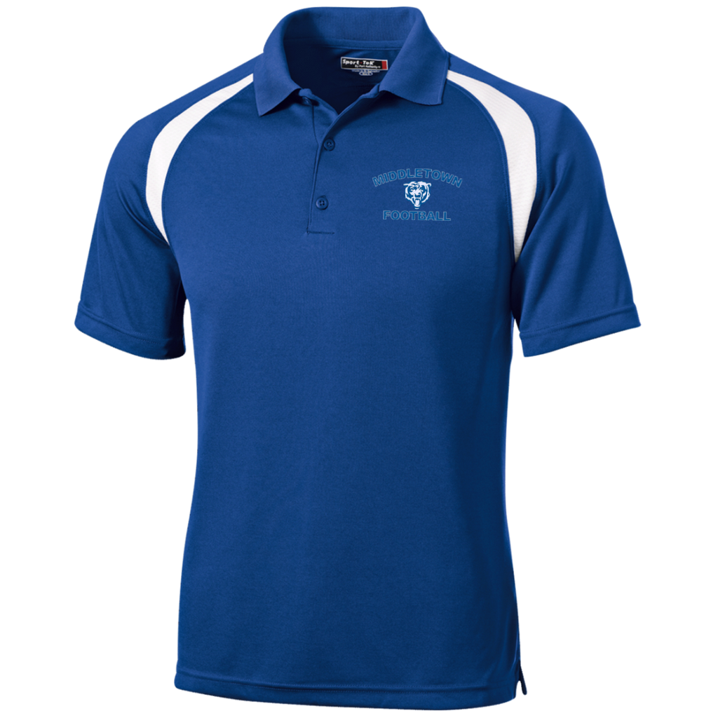 Men's Colorblock Slim Fit Moisture Wicking Polo - Middletown Football