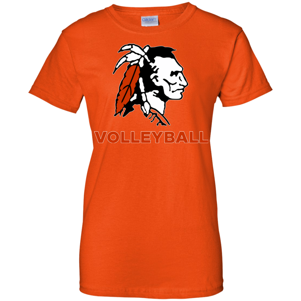 Women's Cotton T-Shirt - Cambridge Volleyball - Indian Logo