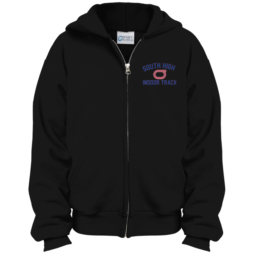 Youth Full-Zip Hooded Sweatshirt - South Glens Falls Indoor Track