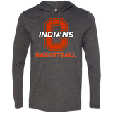 Men's T-Shirt Hoodie - Cambridge Basketball - C Logo