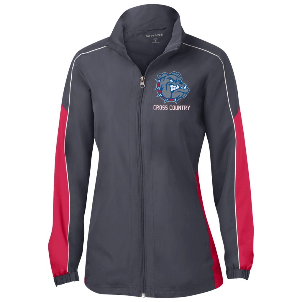 LST61 Sport-Tek Ladies' Piped Colorblock Windbreaker