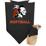 Doggie Bandana - Cambridge Softball - Indian Logo