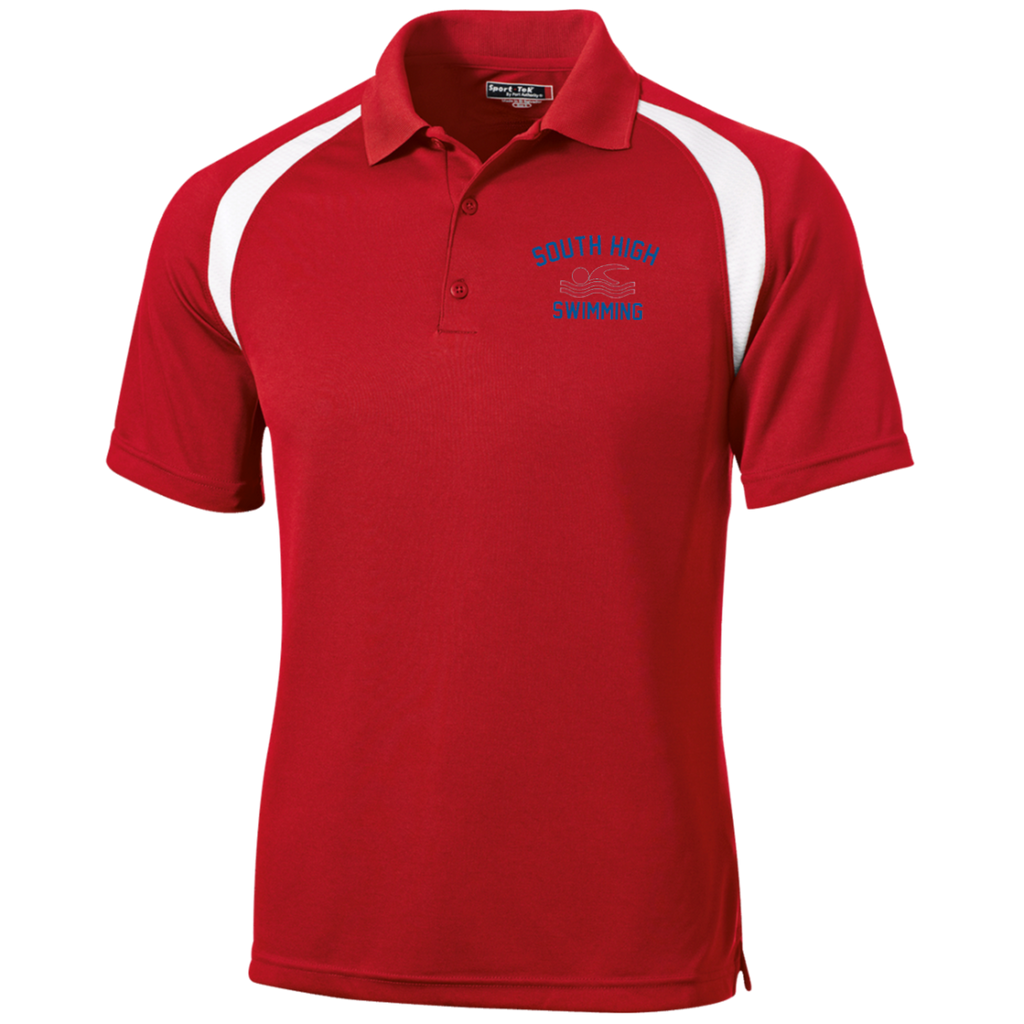 Men's Colorblock Slim Fit Moisture Wicking Polo - South Glens Falls Swimming