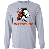 Youth Long Sleeve T-Shirt - Cambridge Wrestling - Indian Logo