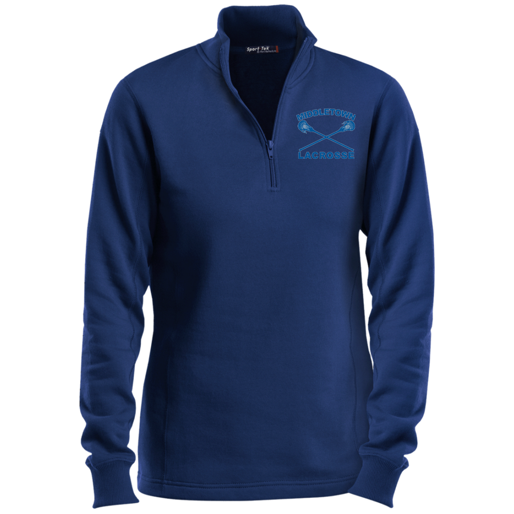 Women's Quarter Zip Sweatshirt - Middletown Girls Lacrosse - Sticks Logo