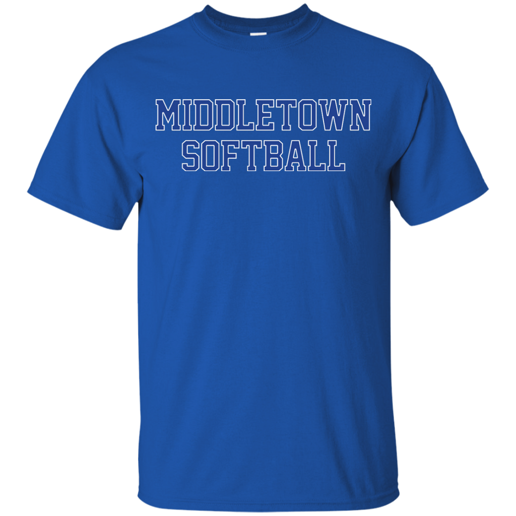 Youth Cotton T-Shirt - Middletown Softball - Block Logo