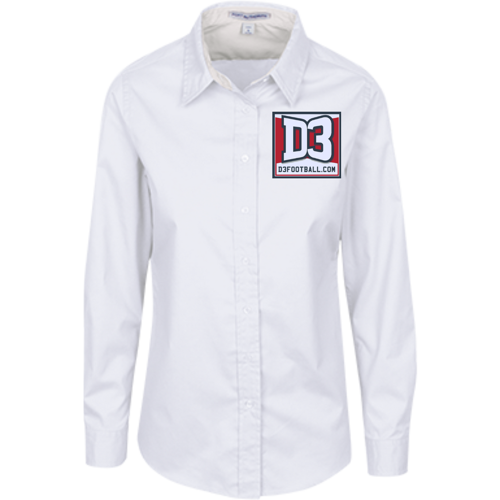 Women's Long Sleeve Blouse - D3Football.com