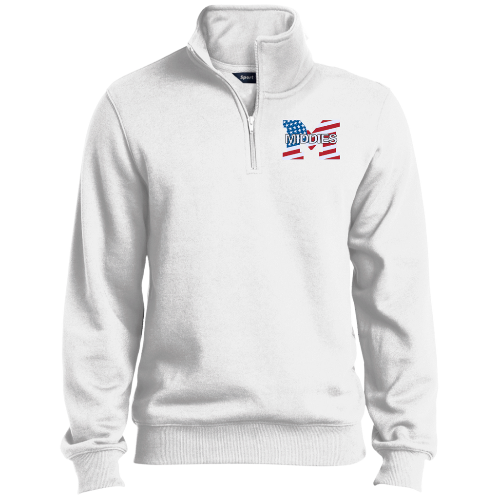 Men's Quarter Zip Sweatshirt - Middletown American Flag