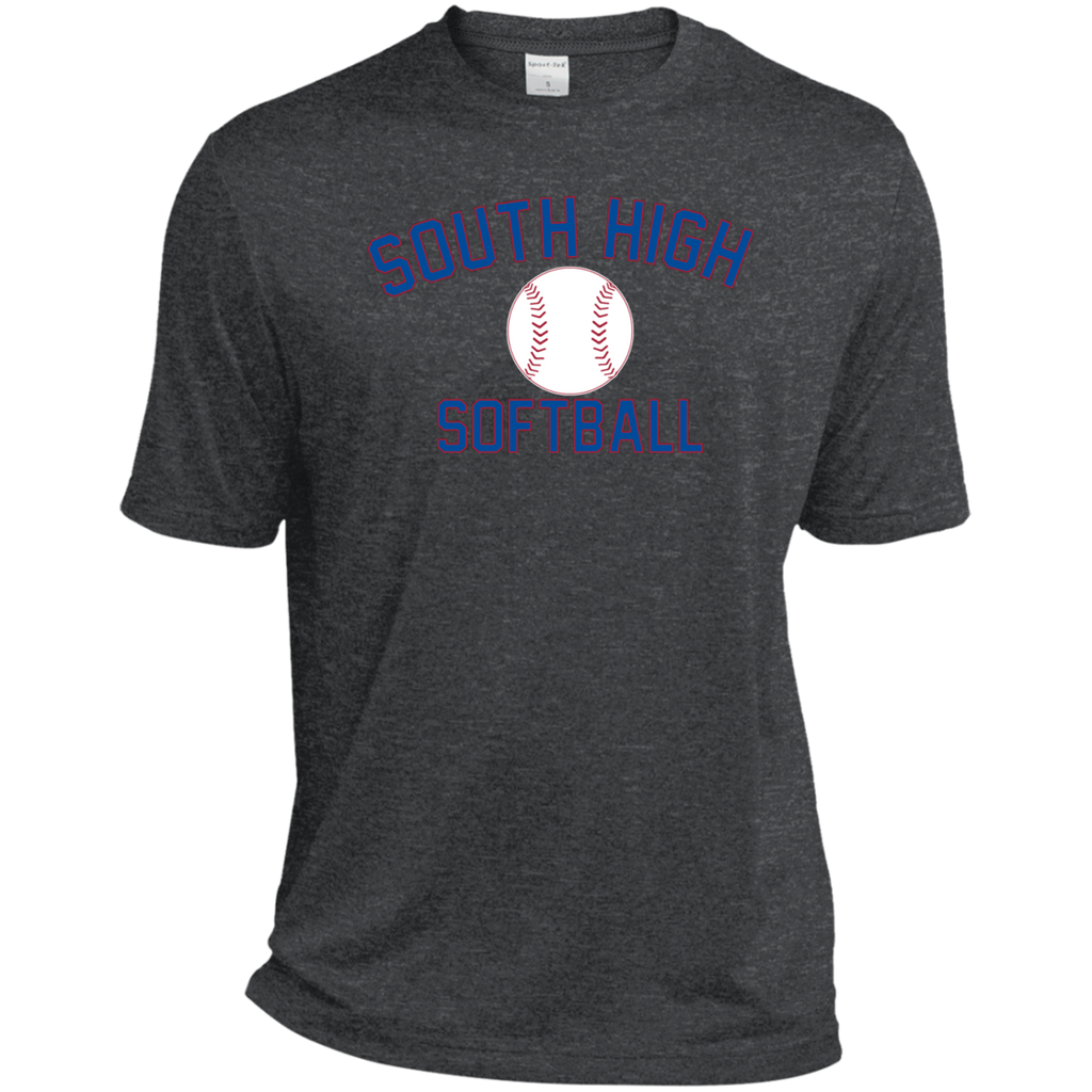 Men's Heather Moisture Wicking T-Shirt - South Glens Falls Softball