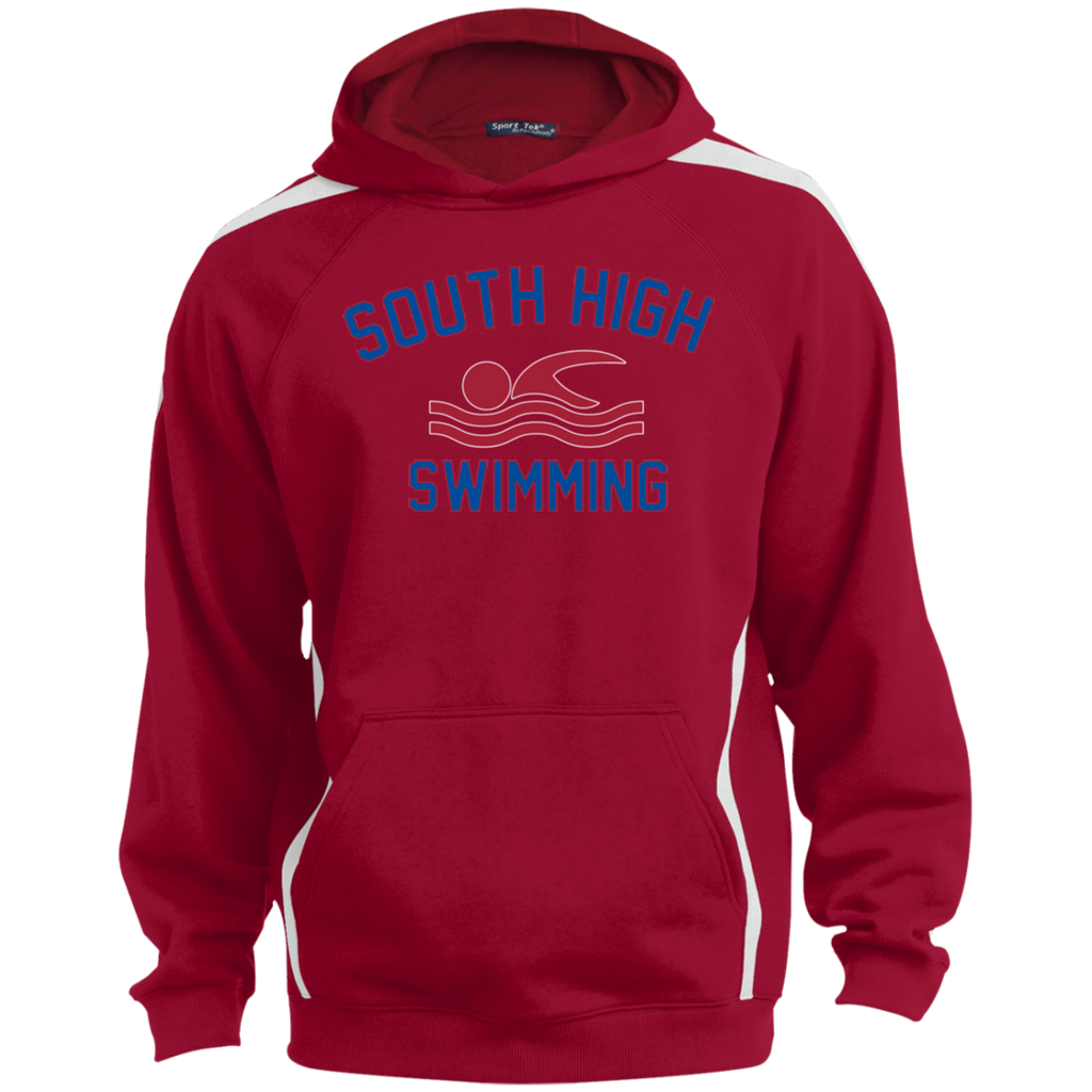Colorblock Hooded Sweatshirt - South Glens Falls Swimming