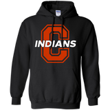 Men's Hooded Sweatshirt - Cambridge Indians - C Logo