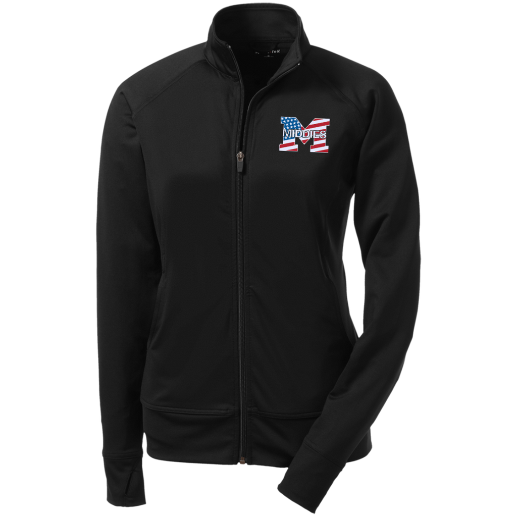Women's Full-Zip Jacket - Middletown American Flag