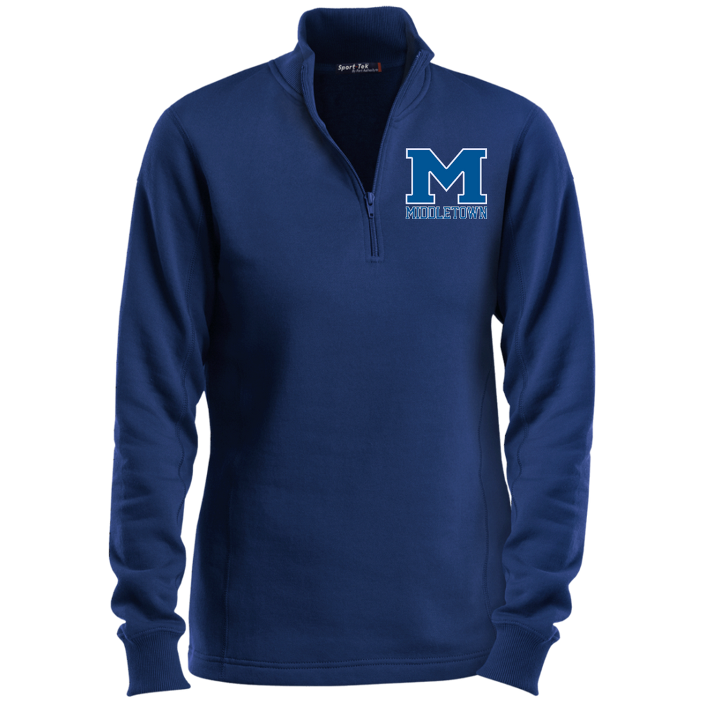 "Women's Quarter Zip Sweatshirt - Middletown ""M"""