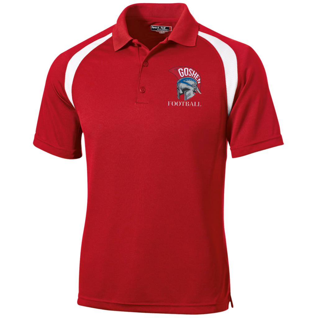 Men's Colorblock Slim Fit Moisture Wicking Polo - Goshen Football