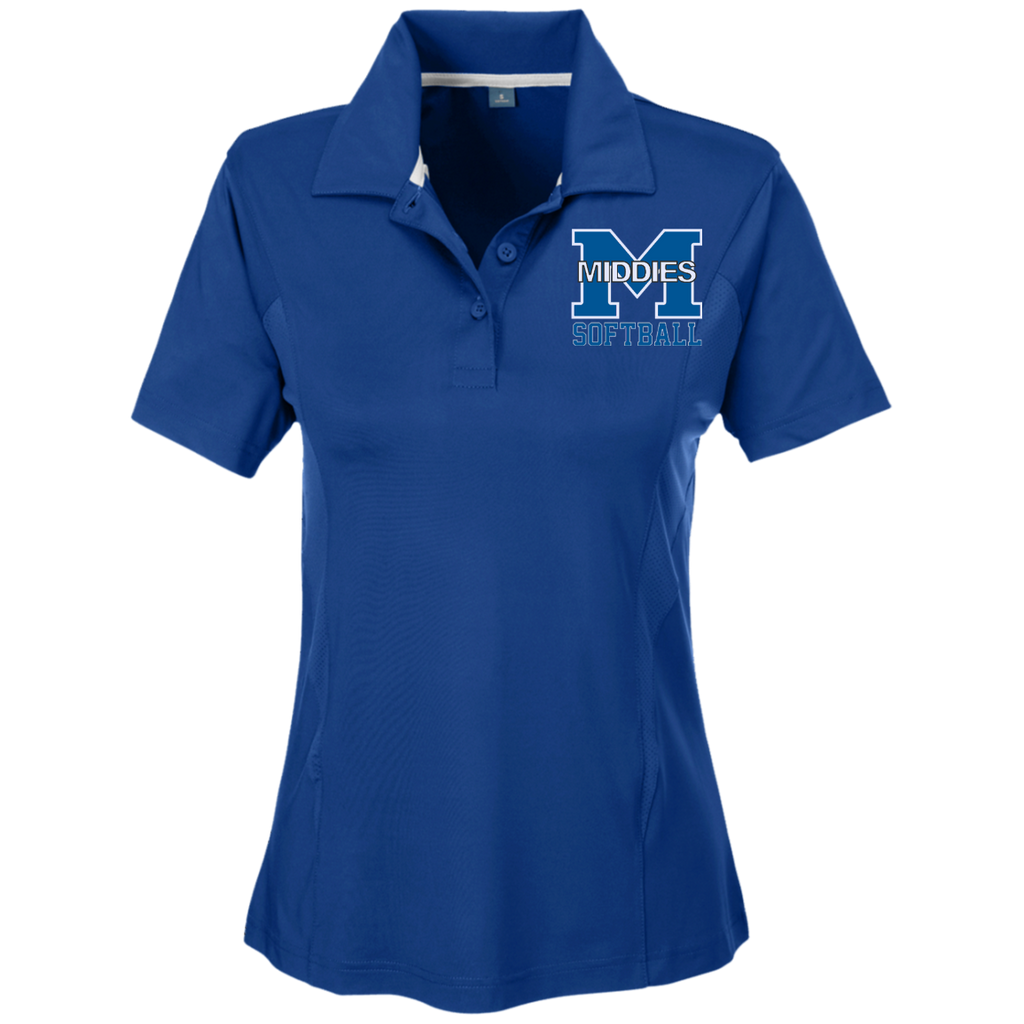 Women's Solid Polo - Middletown Softball