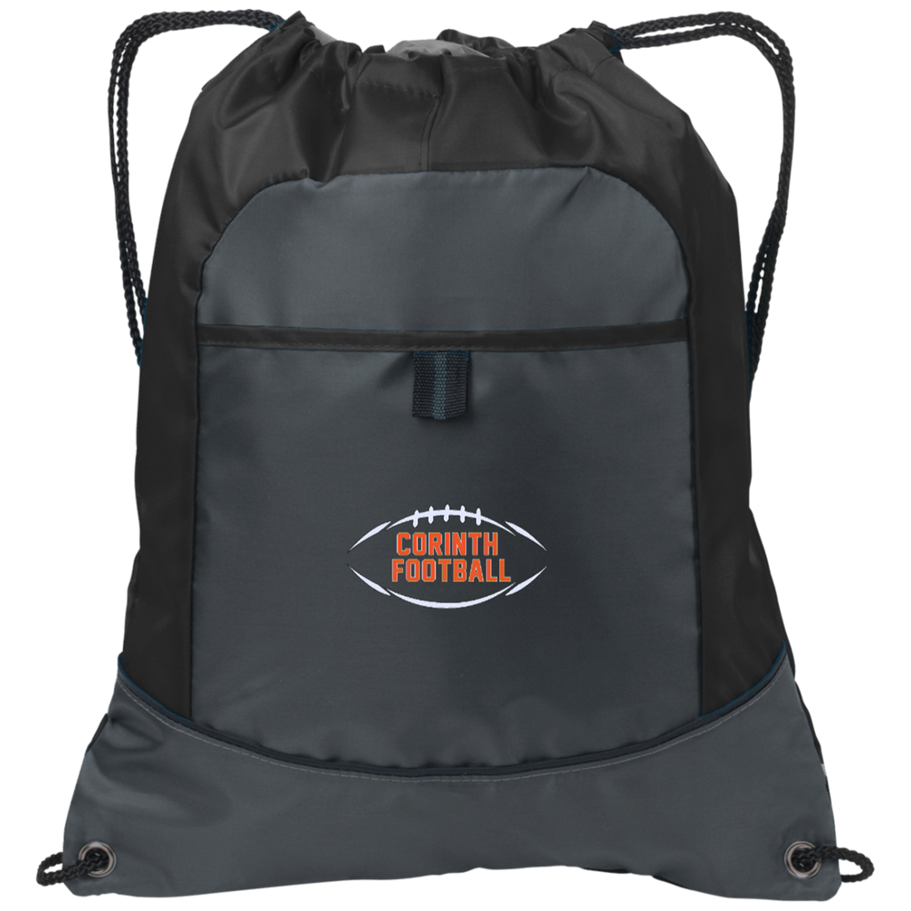 Drawstring Bag with Pocket - Corinth Football