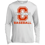 Men's Moisture Wicking Long Sleeve T-Shirt - Cambridge Baseball - C Logo