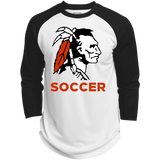 3/4 Sleeve Baseball T-Shirt - Cambridge Soccer - Indian Logo
