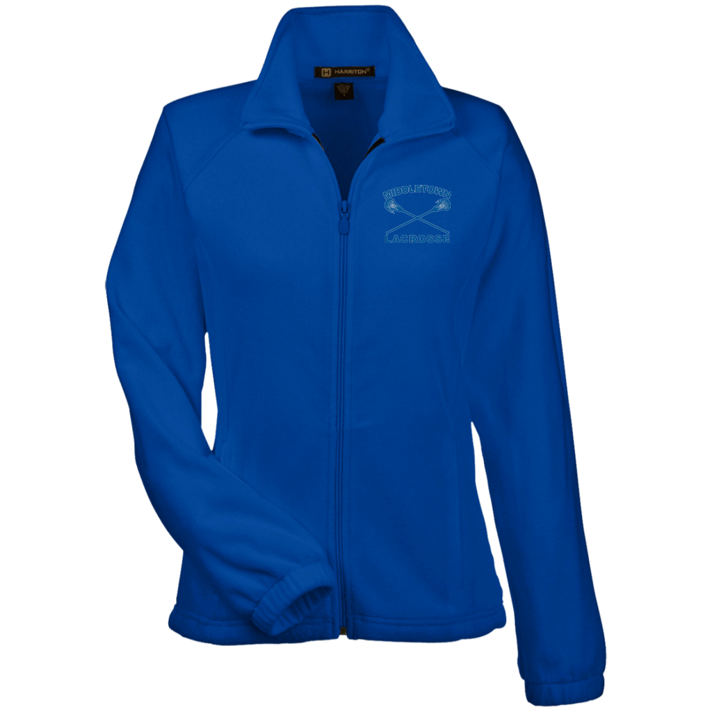 Women's Full-Zip Fleece - Middletown Girls Lacrosse - Sticks Logo