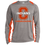 Heather Colorblock Long Sleeve T-Shirt - Cambridge Cheerleading - C Logo