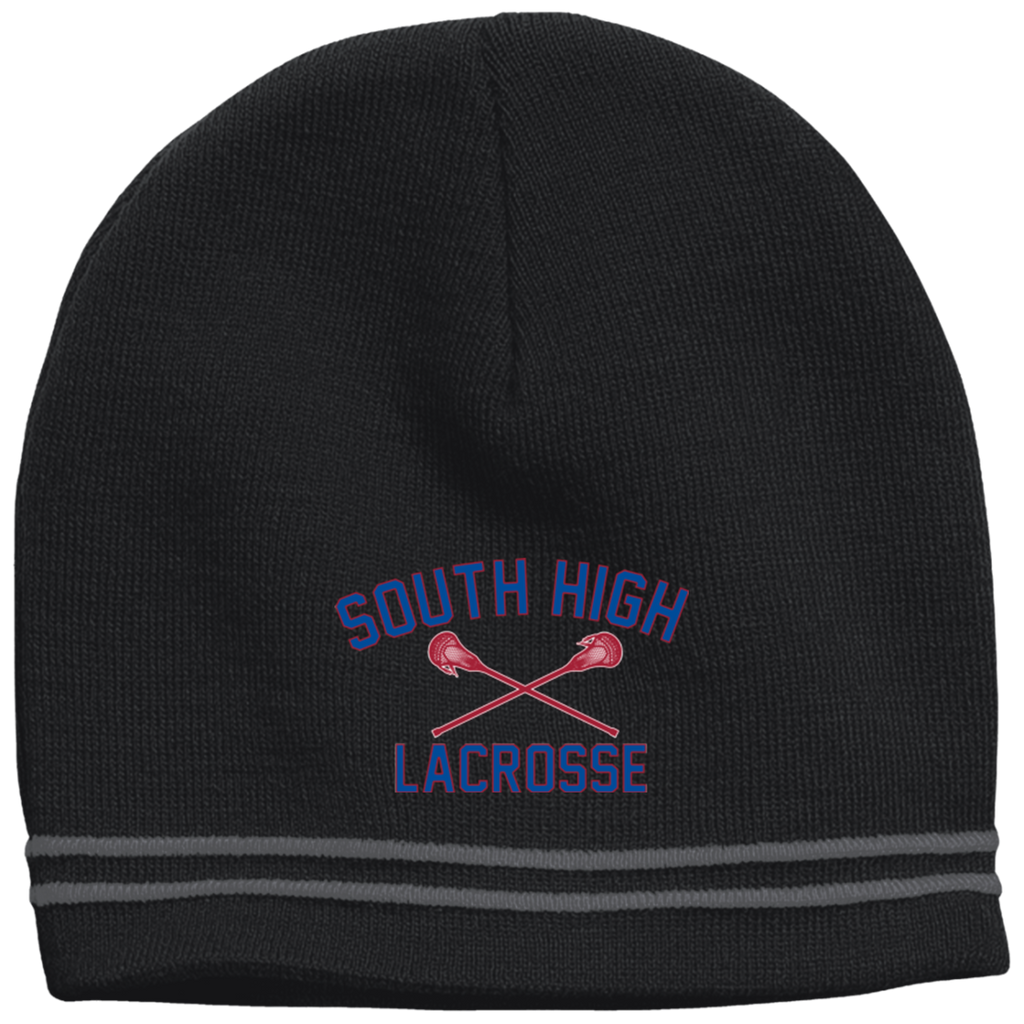 Colorblock Beanie - South Glens Falls Lacrosse