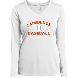 Women's Moisture Wicking Long Sleeve T-Shirt - Cambridge Baseball