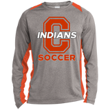 Heather Colorblock Long Sleeve T-Shirt - Cambridge Soccer - C Logo
