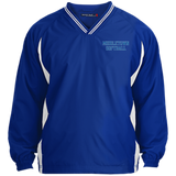 Youth Colorblock V-Neck Pullover - Middletown Softball - Block Logo