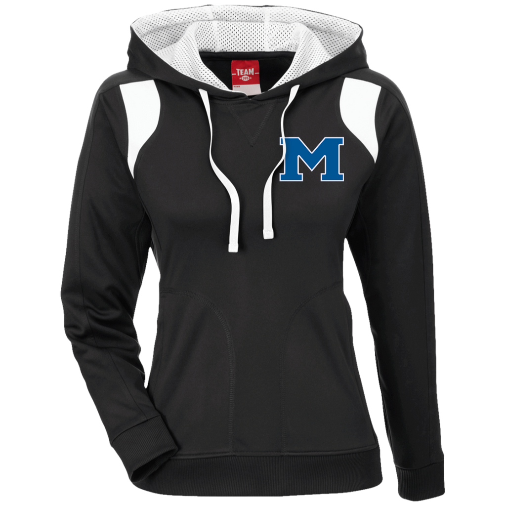 "Women's Colorblock Hooded Sweatshirt - Middletown Block ""M"""
