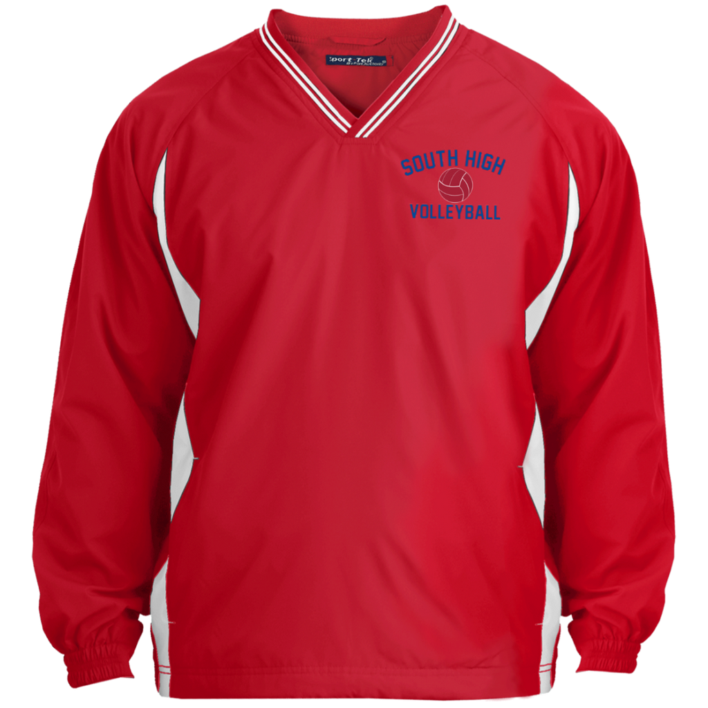 Colorblock V-Neck Pullover - South Glens Falls Volleyball