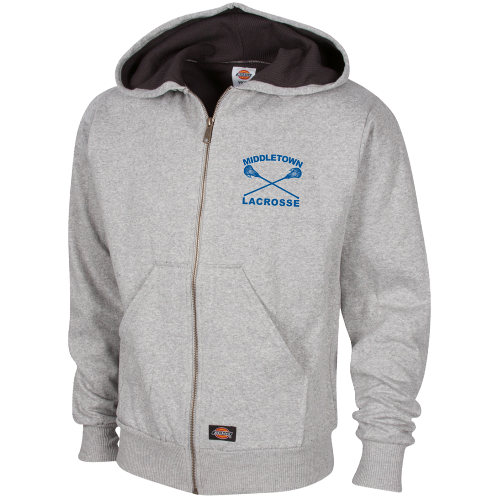 Thermal Fleece Hooded Sweatshirt - Middletown Girls Lacrosse - Sticks Logo