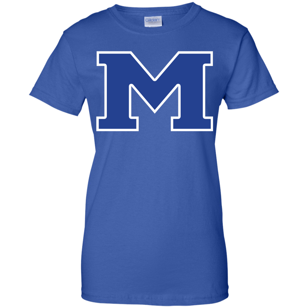 "Women's Cotton T-Shirt - Middletown Block ""M"""