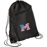 Drawstring Bag with Zippered Pocket - Middletown American Flag