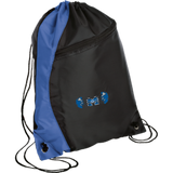 Drawstring Bag with Zippered Pocket - Middletown Unified Basketball