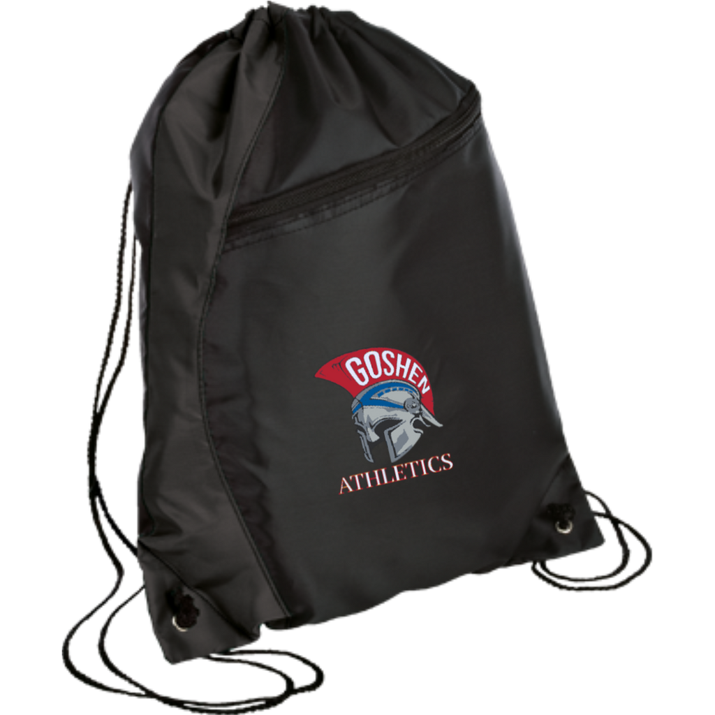 Drawstring Bag with Zippered Pocket - Goshen Athletics