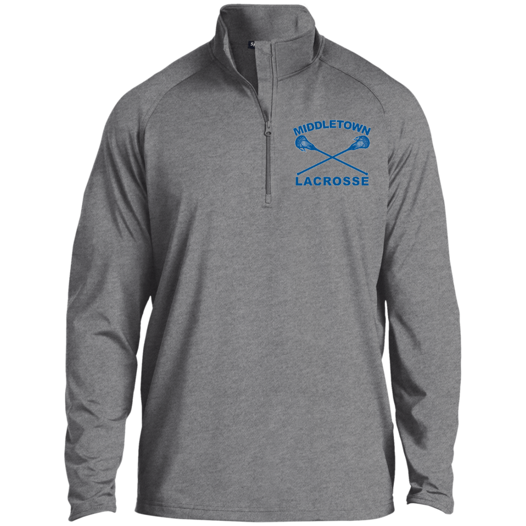 Men's Performance Quarter Zip Sweatshirt - Middletown Girls Lacrosse - Sticks Logo
