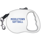 Retractable Dog Leash - Middletown Softball - Block Logo