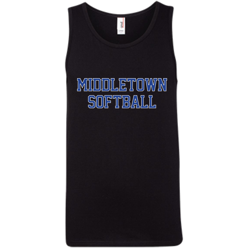 Men's Tank Top - Middletown Softball - Block Logo
