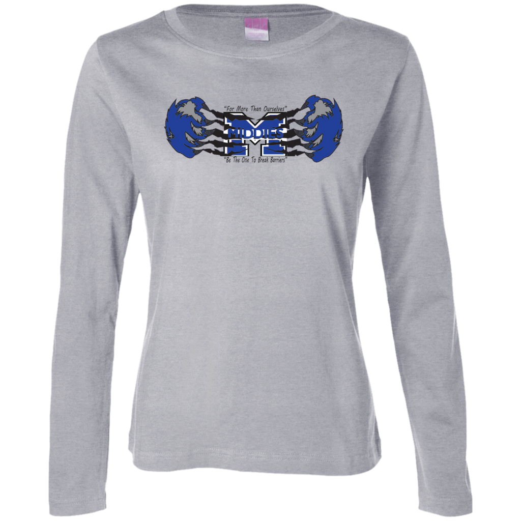 Women's Long Sleeve T-Shirt - Middletown Unified Basketball