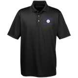 Basketball Vector Logo Outline_Pantone M345 Harriton Men's Snap Placket Performance Polo