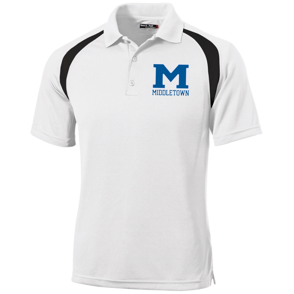"Men's Colorblock Slim Fit Moisture Wicking Polo - Middletown ""M"""