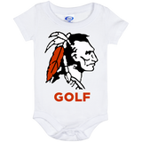 Baby Onesie 6 Month - Cambridge Golf - Indian Logo