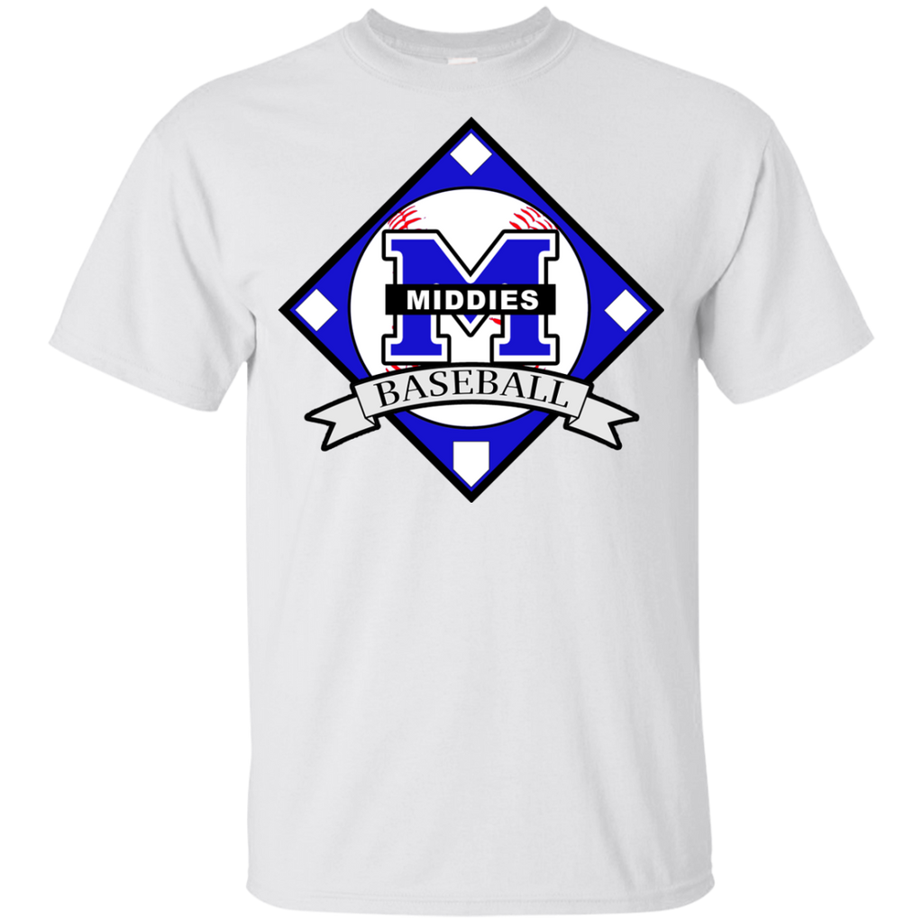 Youth Cotton T-Shirt - Middletown Baseball - Diamond Logo