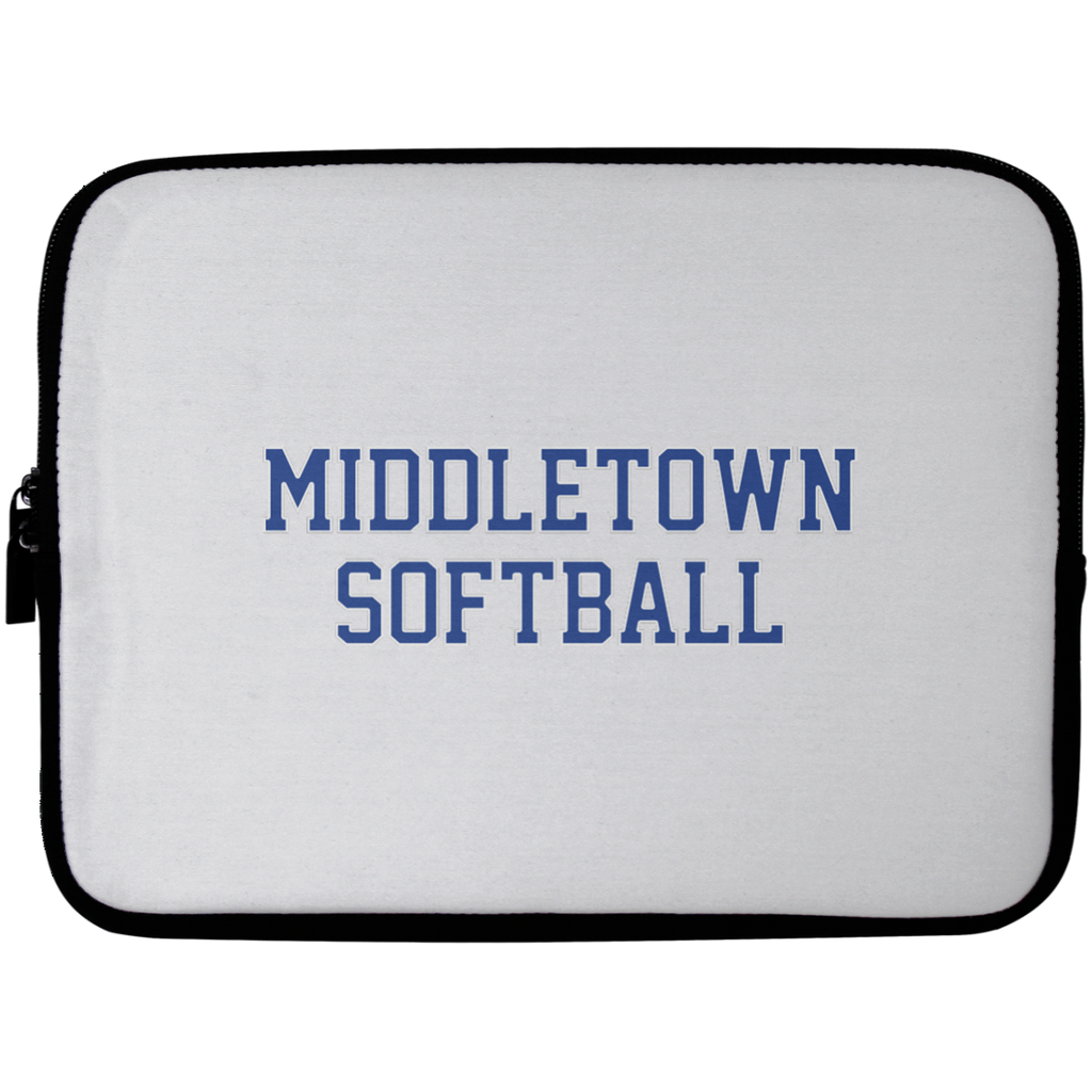 Laptop Sleeve - 10 inch - Middletown Softball - Block Logo