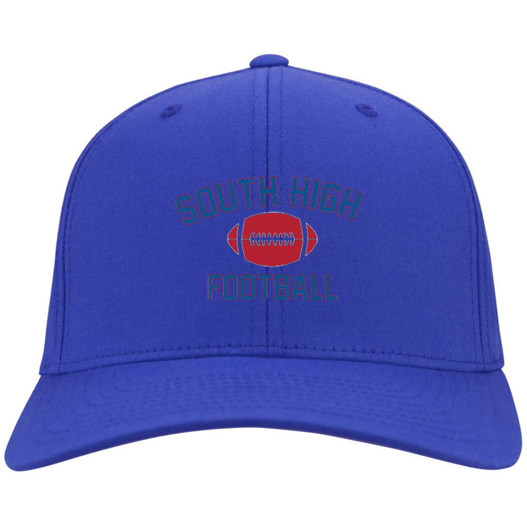 Football Vector Logo Outline_Pantone C813 Port Authority Flex Fit Twill Baseball Cap