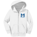 Toddler Full-Zip Hooded Sweatshirt - Middletown Softball