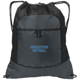 Drawstring Bag with Pocket - Middletown Softball - Block Logo