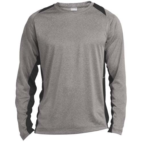 Heather Colorblock Long Sleeve T-Shirt